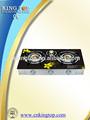 Bajo precio de venta caliente de vidrio templado de seguridad vitrocerámica 3 quemador de cristal superior estufa de gas