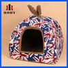 Cheap foldable house shape dog bed with antiskid bottom