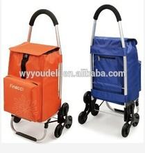 2014JIAFEI HOT SALE shopping cart with bag ,folding climb stair 6 wheel shopping trolley