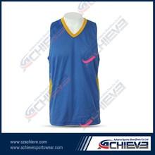 Latest custom sample womens basketball uniform design
