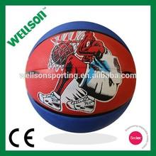 10 panels rubber basketball