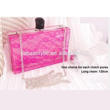 JA-HB-037 Pink colorful wholesale and retail handbag