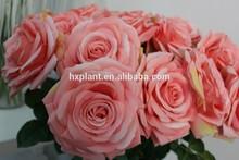Artificial flower,Artificial flower wedding decoration,artificial velvet rose flower