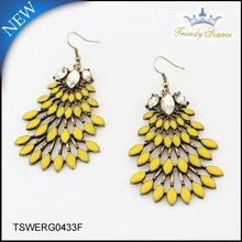 New Arrival Trendy gold earrings new model 2012