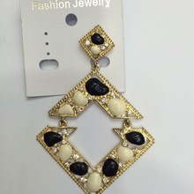 FACTORY LOW PRICE!! Wholesale rhinestone resin alloy dangle earring