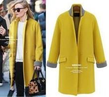 Lovaru Women's Double Breasted Female Coats Overcoat Long Wool Blends Trench Coat