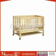 sleeping wooden nursery baby crib