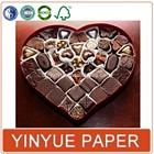 Custom Heart Shaped Chocolate Box For Wedding Invitation