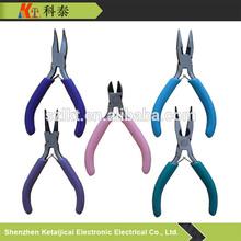 """carbon steel mini pliers/4.5"""" mini style pliers 5pcs set/jewelry tools"""