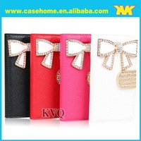stylish flip leather wallet case with camellia flower button for samsung galaxy s4 i9500