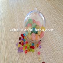 Christmas Plastic Balls that Open/clear hollow plastic balls 30mm-150mm