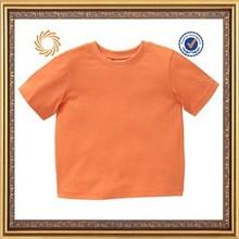 Children age cotton made short sleeve kids plain tshirts