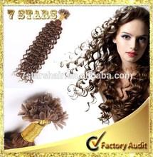 Fashion Nail U-tip Human Hair/brazilian Nail U-tip Hair Extension/remy Nail Hair