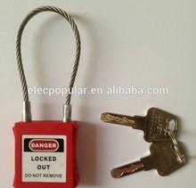 ABS lock body 1.5m/2.4m length 3mm diameter cable pad lock