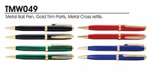 Metal ballpoint pens in giftbox promotional item factory logo ball pen twist mechanism type SA8000 Sedex SMETA factory audit