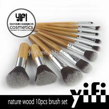 Wholesale makeup brush manufacturers china bamboo handle 10 pcs private label makeup brush