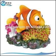 Air Operated Aquarium Resin Fish Tank Ornaments With Bubble