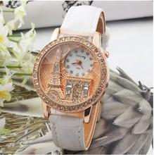 Women watches Quartz Wristwatch Gogoey Brand Luxury Eiffel Tower Leather Watch Lady Casual fashion gold Watch