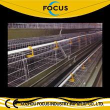 Poultry farm equipment multi-tier galvanized chicken layer cage