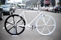 festrad fahrrad mit aero speichenräder 700c sechs