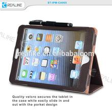 Latest new product handle leather case for ipad mini/2/3