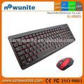 durable profesional ratón inalámbrico de teclado de la función de la rueda