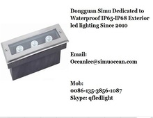 3 W Daylight waterproof IP65 recessed linear lighting 300 MM for garden, landscape with Free sample