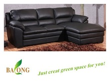 New Product Modern Leather Sofa Furniture, Living Room Black Sofa Bed