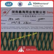 polyester raschel knotless net webbing net