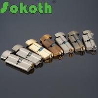 70mm china supplier euro profile brass door cylinder lock with knob