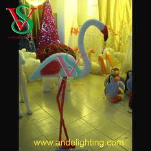 High quality Christmas 3D flamingo sculpture light LED animal motif light