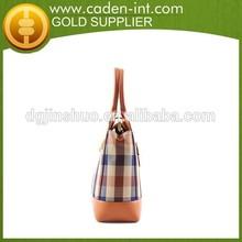 Korean Fashion Super Quality Nylon Tote Bag Leather Handle
