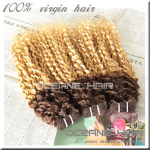 Double color hair indian hair extensions wholesale price two tone indian hair weaving