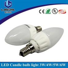 AC230v 240v Samsung AC COB driver free E14 4W LED candle bulb dimmable