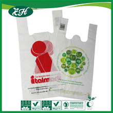 eco friendly EN13432 ASTM D6400 cornstarch biodegradable plastic shopping bag