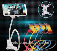 universal clip Mount Holder 360 Degree Sucker car bracket Bed Desktop iron Bracket for Mobile Phone Holder Stand 5 colors!