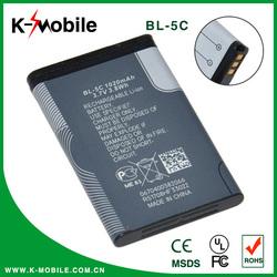 compatible 1200mah li ion battery for nokia bl-5c