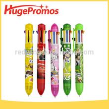 Coustom Logo Cartoon Plastic Color Rocket Pen for Promotion