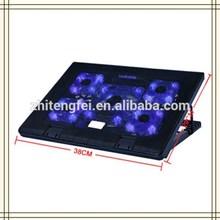 "5 Fans LED 2 USB Cooling Adjustable Air Cooler Cooling Pad For Laptop Notebook 10""-17"""