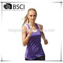 Hongtai lady running wear top vest tight fitness tank top vest sportswear