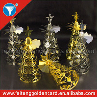 Latest manufacturing cheap price rotating & spining metal tea light candle holder for 2015 gift