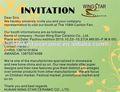 2010 canton fair Einladung von flügel sterne keramik