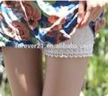 2015 senhoras de moda curto calças, Mulheres apertado Cotton Lace Shorts