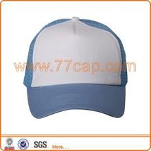Good selling foam mesh blank custom 5 panel hats