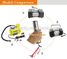 12V Auto Air Compressor Tire Inflator Hose Bag Gauge Kit