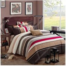 China supplier 100 cotton printing multicolor stripe duvet cover 3/4 pcs