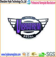 cheap custom design shape engraved aluminum alloy logo