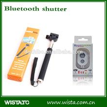 selfie stick with bluetooth shutter button,bluetooth shutter,monopod bluetooth