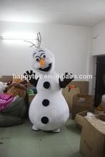 HI animal mascot for kids olaf mascot costume / lovely frozen snowman olaf mascot costume