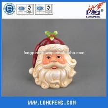 Dolomite Christmas Santa Cookie Jar with Lid